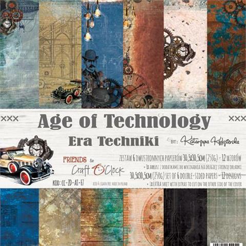 Craft O´Clock Age of Technology paperisetti 30,5x30,5cm 6kpl