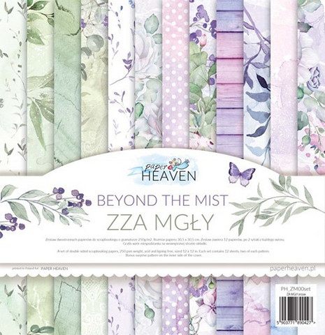 Paper Heaven Beyond The Mist paperisetti 12x12
