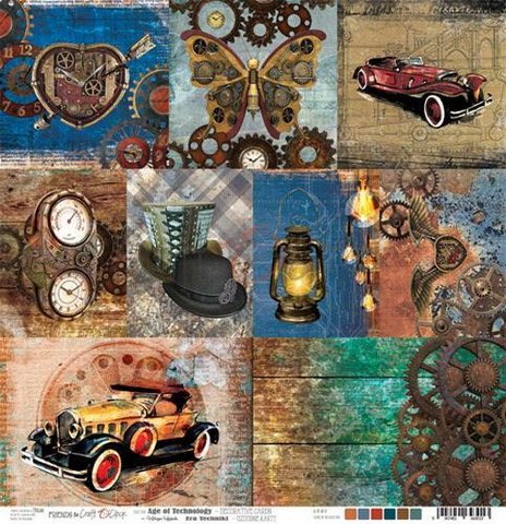 Craft O´Clock Age Of Technology - Decorative Cards 30,5x30,5cm