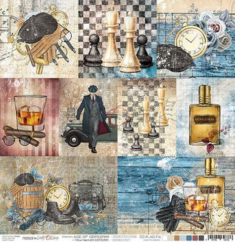 Craft O´Clock Age Of Gentleman - Decorative Cards 30,5x30,5cm