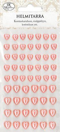JK sydän helmitarrat vaaleanpunainen