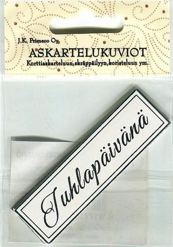 JK Primeco askartelukuviot Juhlapäivänä hopea 6kpl