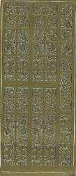 Ääriviivatarra koristeelliset kulmat kulta 2138