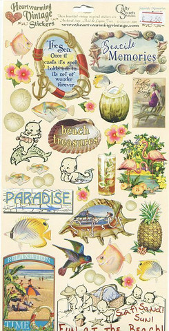 Crafty Secrets vintage tarrat Seaside Memories