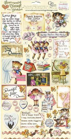 Crafty Secrets vintage tarrat Little Girls
