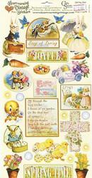 Crafty Secrets vintage tarrat Spring Joys