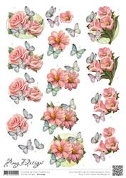 3d-kuvat hienot kukat Amy Design a4