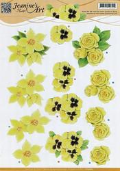 3d-kuvat keltaisia kukkia Jeanine´s Art a4