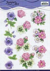 3d-kuvat kauniita kukkia Jeanine´s Art a4