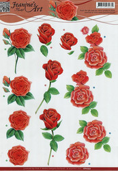 3d-kuvat punaisia ruusuja Jeanine´s Art a4