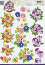 3d-kuvat värikkäitä kukkia Jeanine´s Art a4