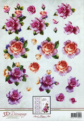 3d-kuvat upeita ruusuja Ann´s Paper Art a4