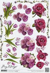 3d-kuvat hienot kukat ja perhoset Amy Design a4