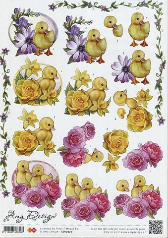 3d-kuvat pääsiäistiput ja kukat Amy Design a4