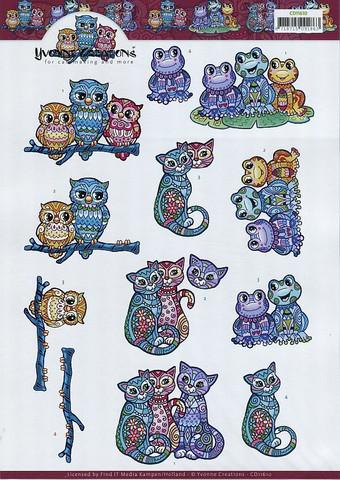 3d-kuvat koristeellisia eläimiä Yvonne Creations a4