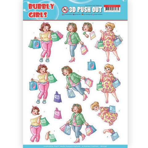 Stanssatut 3d-kuvat Bubbly Party Girls Yvonne Creations sb10347