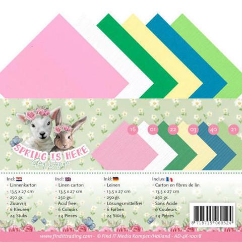 Tekstuurikorttikartongit Amy Design Spring is Here 13,5x27cm