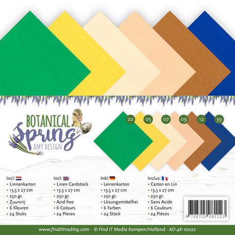 Tekstuurikorttikartongit Amy Design Botanical Spring 13,5x27cm