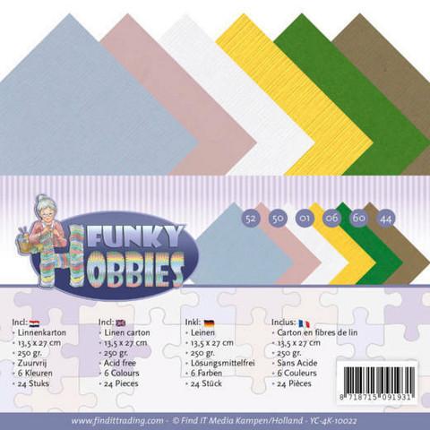 Tekstuurikorttikartongit Yvonne Creations Funky Hobbies 13,5x27cm