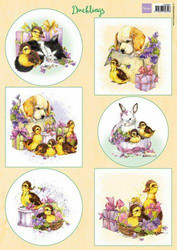 Marianne Design korttikuvat Ducklings a4