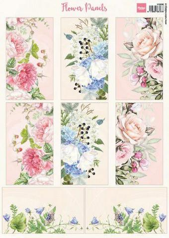 Marianne Design korttikuvat Flower Panels a4