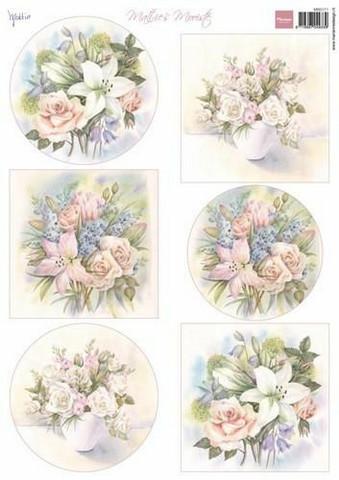 Marianne Design korttikuvat Mattie's Beautiful Lilies MB0171 A4