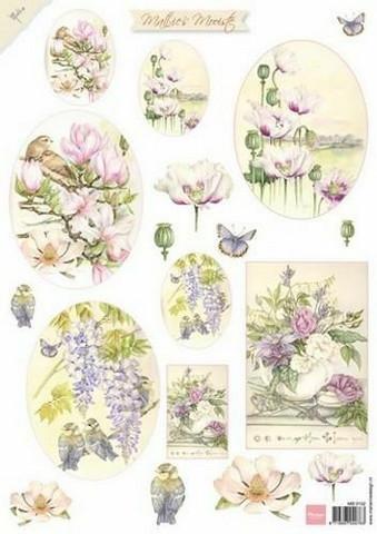 Marianne Design korttikuvat Mattie's kauniita kukkia mb0152 A4