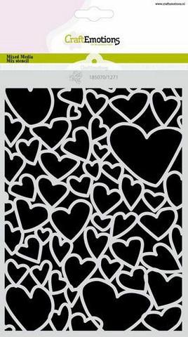 Sydansabluuna CraftEmotions  Love Puns - hearts A5
