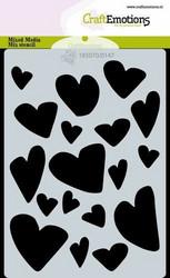 Sydansabluuna CraftEmotions  Love Puns - hearts A6