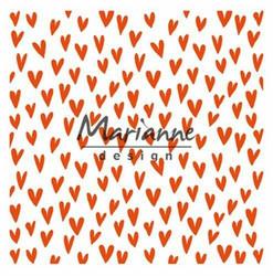Marianne Design kohokuviointitasku Trendy hearts DF3438