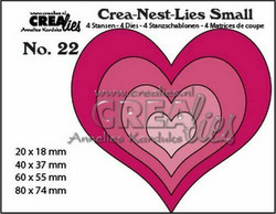 Crealies stanssit Small Hearts 4kpl CNLS22
