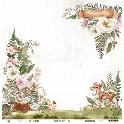 P13 skräppipaperi Forest Tea Party 04 12x12