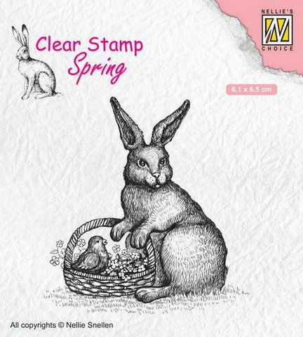 Nellie Choice leimasin Easter hare with basket SPCS013