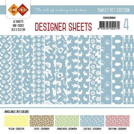 Card Deco paperikko Sweet Pet - sininen 6x6