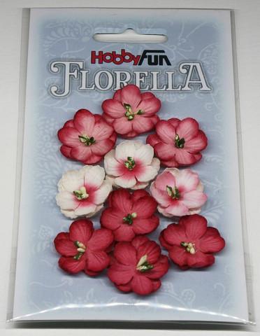 Florella koristekukat punainen 10kpl 042