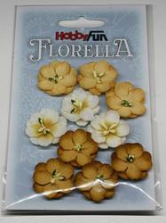 Florella koristekukat keltaruskea 10kpl 018
