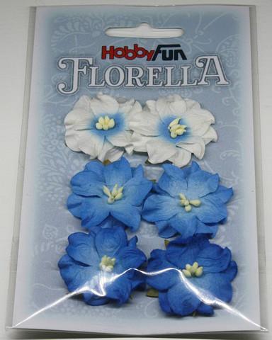 Florella koristekukat gardenia sininen 6kpl 054