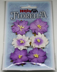 Florella koristekukat gardenia violetti 6kpl 053