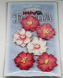 Florella koristekukat gardenia punainen 6kpl 052