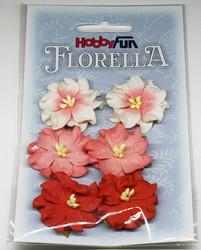 Florella koristekukat gardenia punainen 6kpl 027