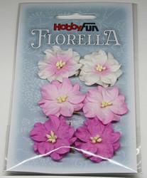 Florella koristekukat gardenia vaaleanpunainen 6kpl 025