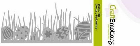 CraftEmotions stanssi grass edge with easter eggs