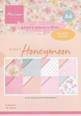 Marianne Design paperikko Eline´s Honeymoon a4