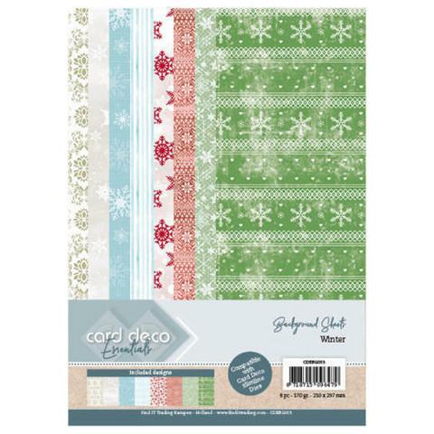 Card Deco paperisetti Winter 8kpl/a4