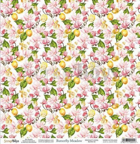 ScrapBoys paperi Butterfly Meadow 02 30,5x30,5cm