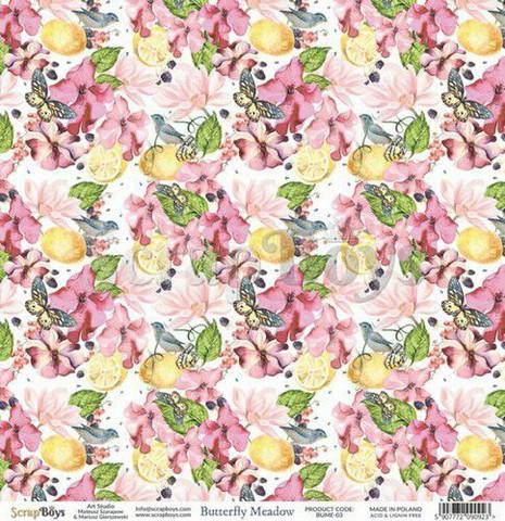 ScrapBoys paperi Butterfly Meadow 03 30,5x30,5cm