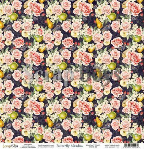 ScrapBoys paperi Butterfly Meadow 06 30,5x30,5cm