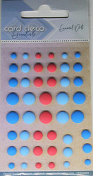 Enamel dots tarrakoristeet matta puna-sininen