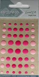 Enamel dots tarrakoristeet kiiltävä pinkki-vaaleanpunainen