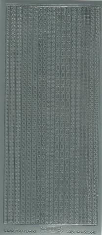 Ääriviivatarra erilaisia boordeja hopea 1001